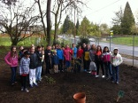 Mrs. Troncoso's 4th grade class planted a tree for Earth Week!
